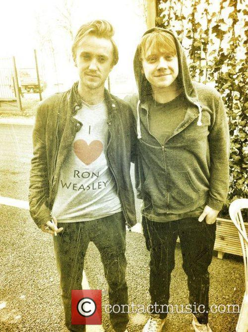Tom Felton and Rupert Grint 1