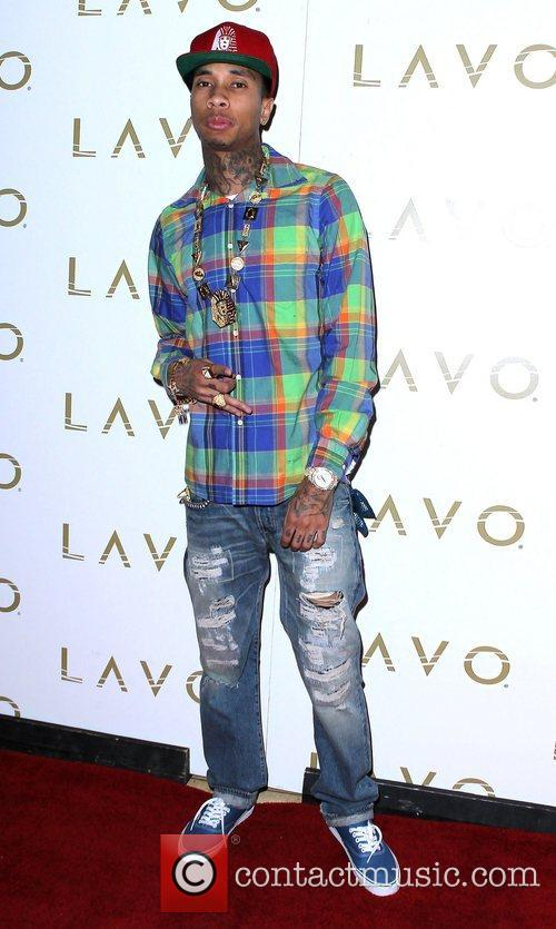 Tyga hosts an evening at Lavo nightclub inside...