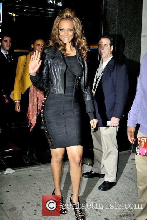 Tyra Banks seen departing the Chelsea Television Studios...