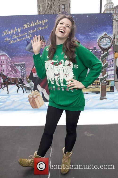 Ugly Christmas Sweater Contest held in Gramercy Park...