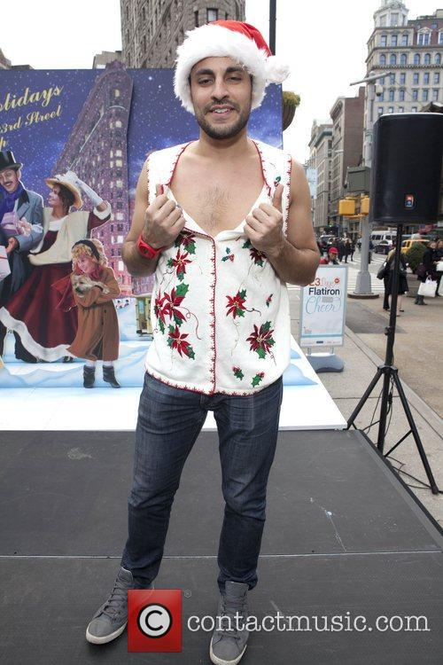 Dan Ugly Christmas Sweater Contest held in Gramercy...