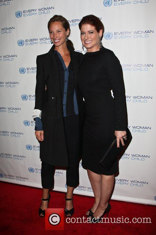 Christy Turlington and Debra Messing 2