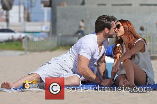 Una Healy of The Saturdays and husband Ben...