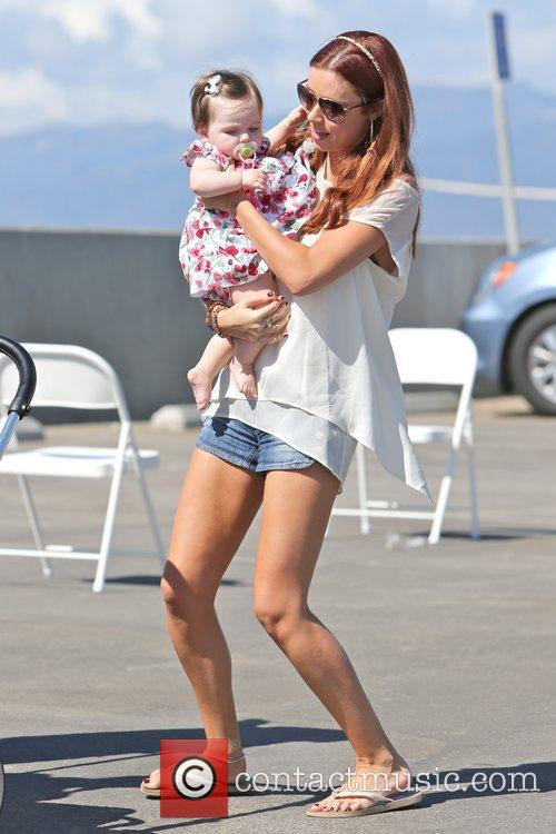 Una Healy of The Saturdays and her daughter...