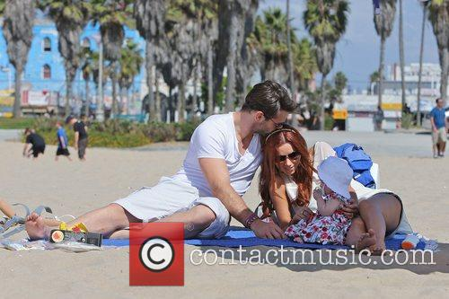 Una Healy of The Saturdays, husband Ben Foden...