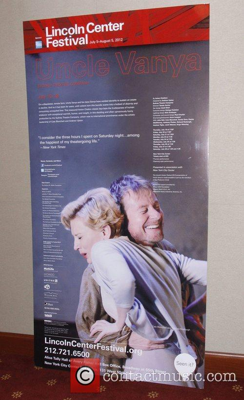 The opening night party for 'Uncle Vanya' at...