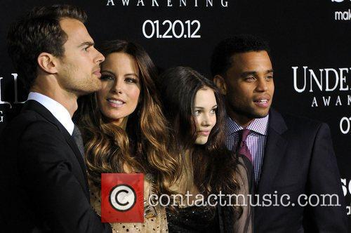 Theo James, Kate Beckinsale, India Eisley and Michael...