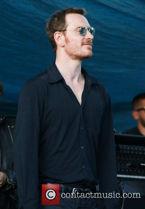 Michael Fassbender on the set of 'Untitled Terrence...