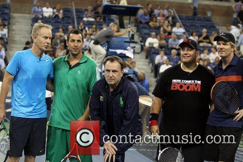 John Mcenroe, Adam Sandler, Colin Quinn and Kevin James