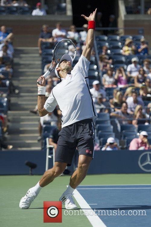 , Novak Djokovic (SER) defeats David Ferrer (SPA)...