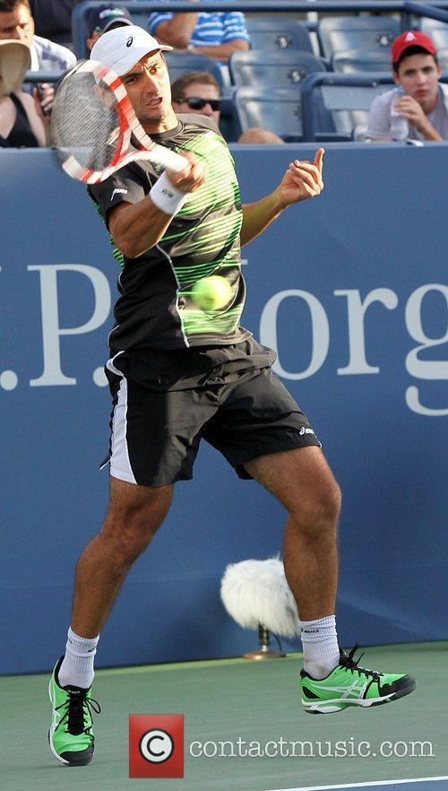 Florent Serra  US Open 2012 Men's Match...
