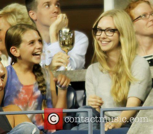 Celebrities at the 2012 US Open tennis match...