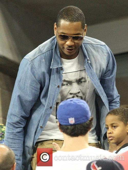 Carmelo Anthony Celebrities at the 2012 US Open...