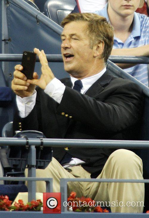 Alec Baldwin Celebrities at the 2012 US Open...