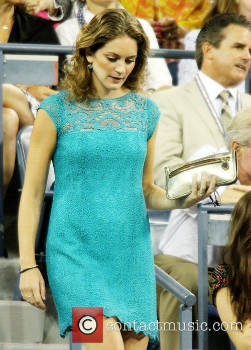 Felicity Blunt Celebrities at the 2012 US Open...