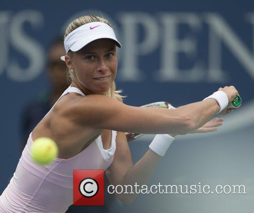 Andrea Hlavackova US Open 2012 Women's Match -...