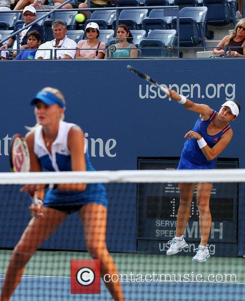 Claudia Jans-Ignacik and Kristina Mladenovic US Open 2012...