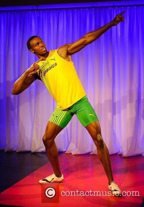 Usain Bolt waxwork figure launch at Madame Tussauds-...
