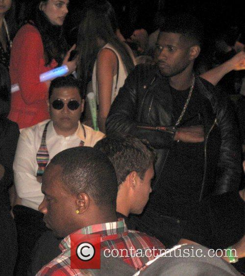 PSY and Usher party at 1 OAK nightclub...