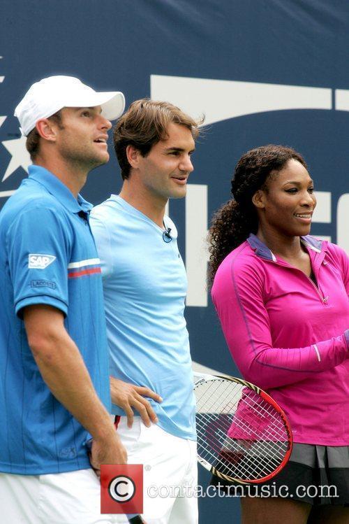Andy Roddick, Roger Federer, Serena Williams Arthur Ashe...