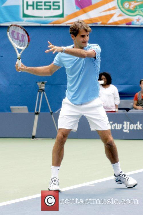 Roger Federer Arthur Ashe Kids Day 2012, held...