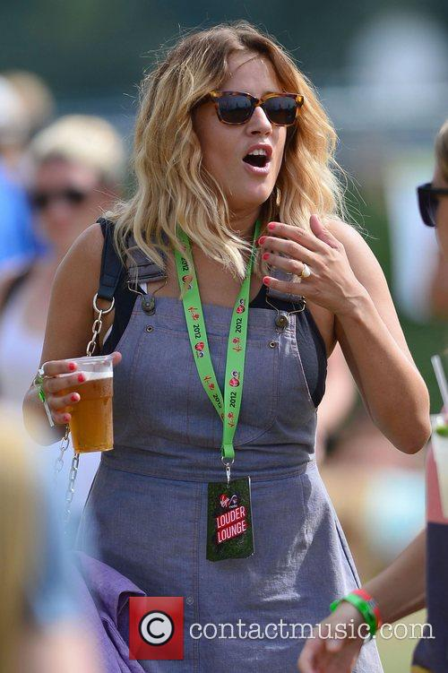 Caroline Flack V Festival 2012 held at Hylands...