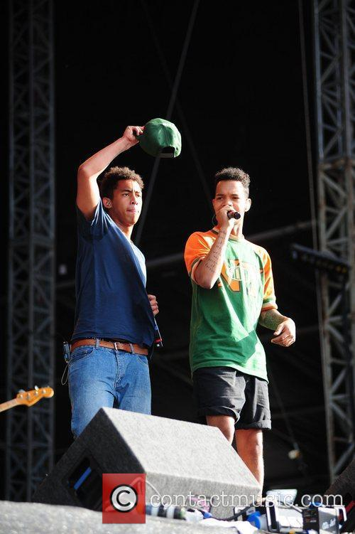 Rizzle Kicks V Festival 2012 held at Weston...