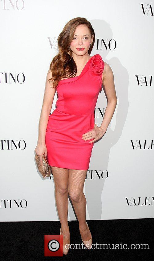 Rose McGowan  The Valentino Rodeo Drive Flagship...