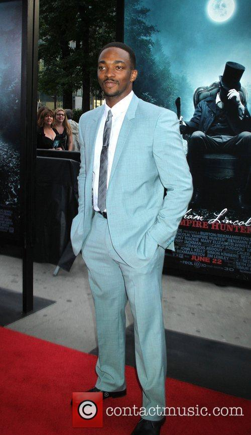 anthony mackie at the premiere of abraham 3950568