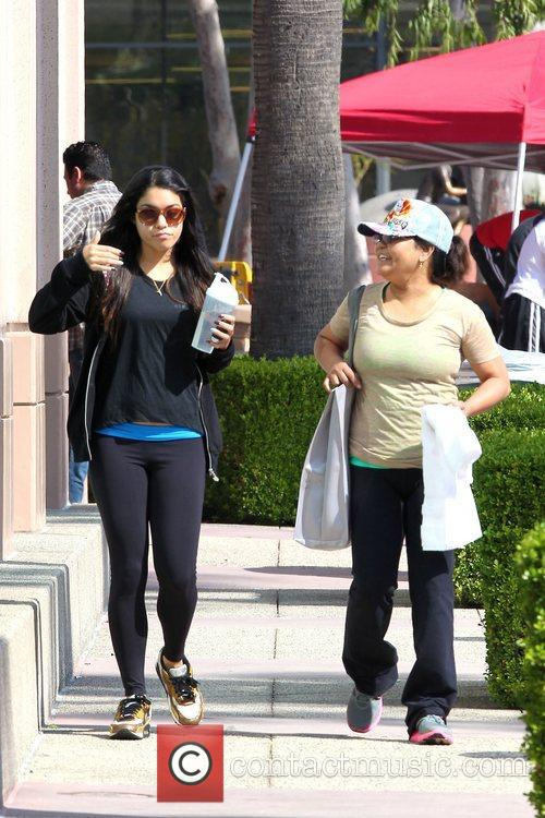 Vanessa Hudgens and her mother are seen leaving...