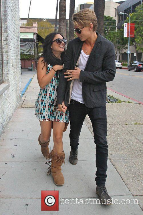 Vanessa Hudgens and Austin Butler out and about...