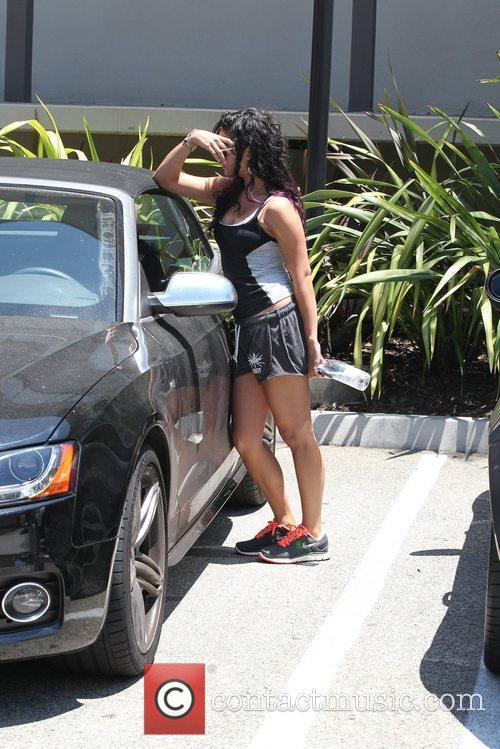 Seen leaving the Gym in Studio City