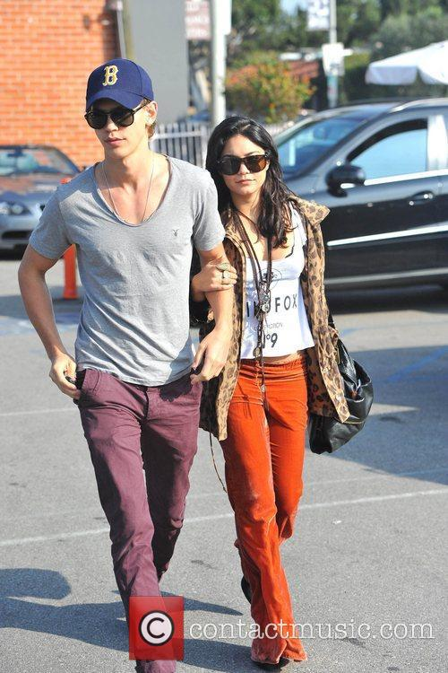 Vanessa Hudgens and Austin Butler are seen exiting...