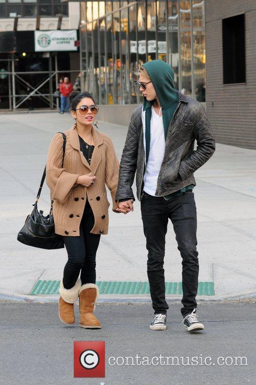Vanessa Hudgens and boyfriend Austin Butler spending the...