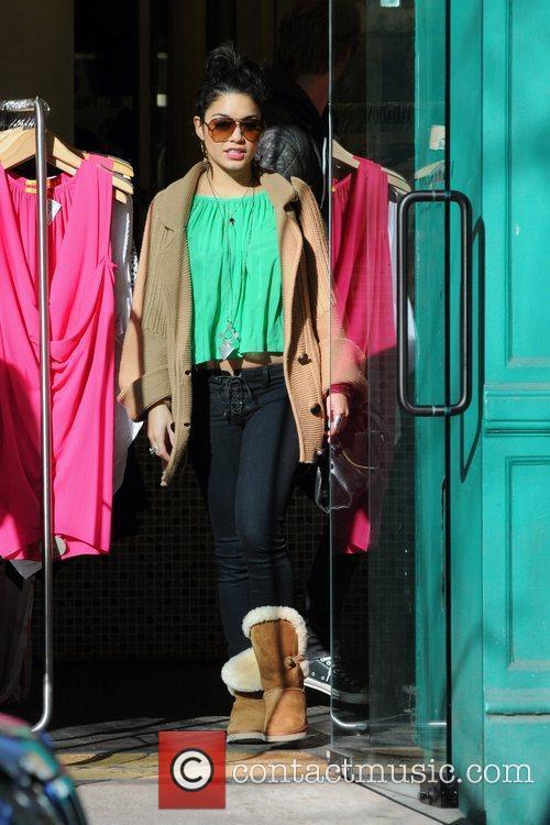 Vanessa Hudgens leaving a clothing shop in SoHo...