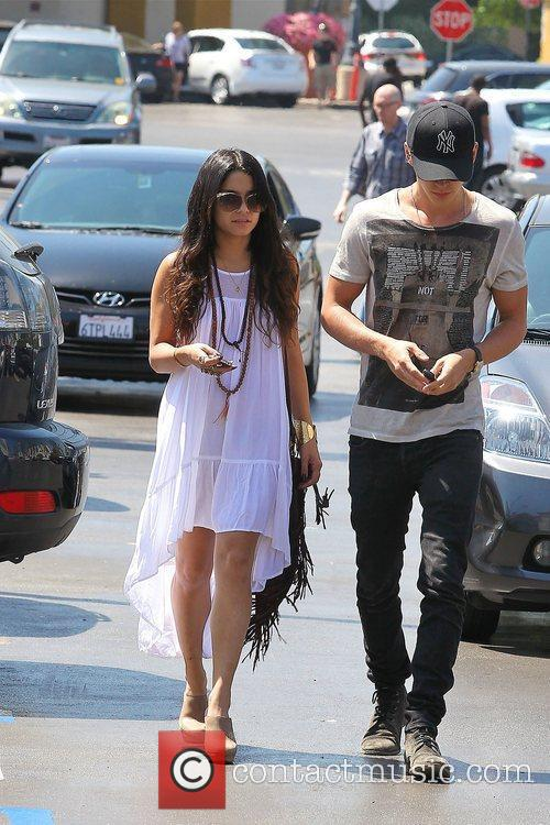 Vanessa Hudgens and Austin Butler shopping at Ralphs...