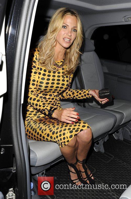 Sarah Harding Celebrities leave Vanilla London London, England