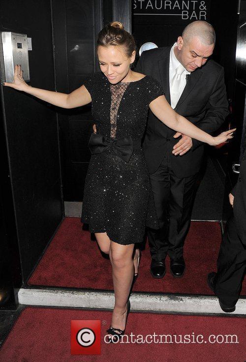 Kimberley Walsh leaving Vanilla club at 3am.