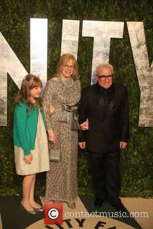 Martin Scorsese, his daughter Francesca Scorsese and his...