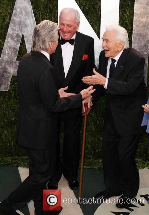 Michael Douglas, Jerry Weintraub and Kirk Douglas 2