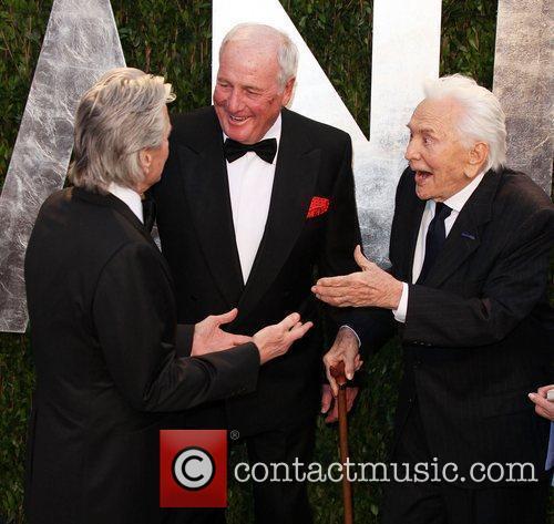 Michael Douglas, Jerry Weintraub and Kirk Douglas
