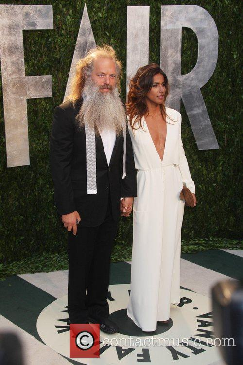 Music producer Rick Rubin and Mourielle Herrera...