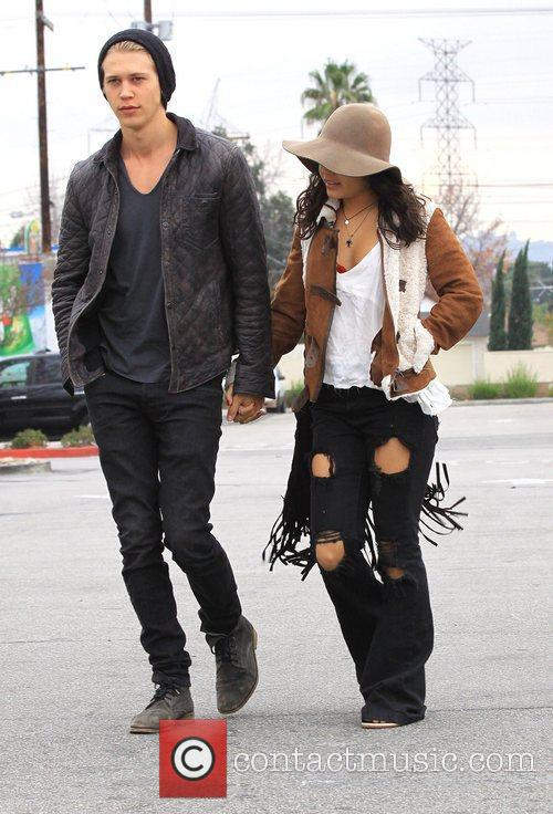 Vanessa Hudgens with boyfriend Austin Butler christmas shopping...
