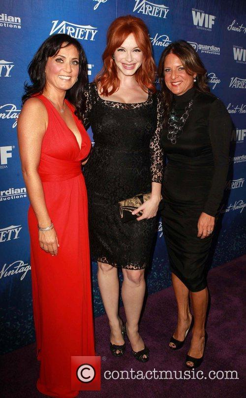 Danica Krislovich, Christina Hendricks, Cathy Schulman Variety And...
