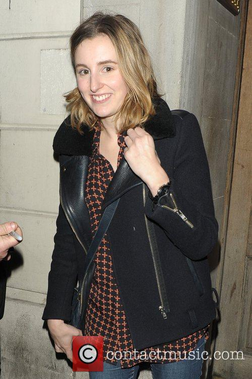 Leaving the Vaudeville Theatre after she played in...