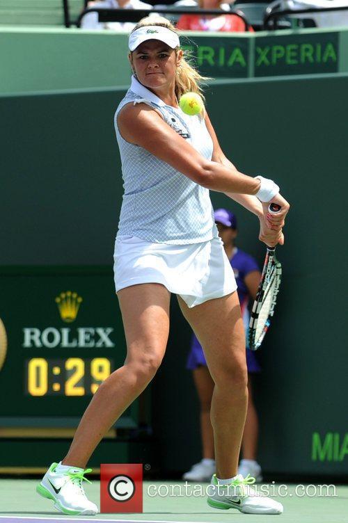 Aleksandra Wozniak Venus Williams (USA) competes against Aleksandra...