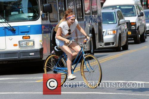 Elizabeth Olsen   on the movie set...