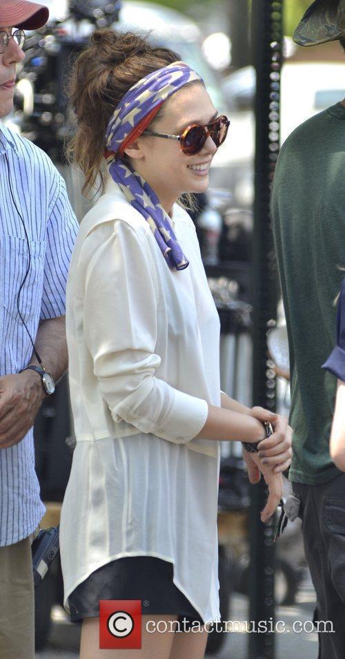 Elizabeth Olsen  on the set of 'Very...