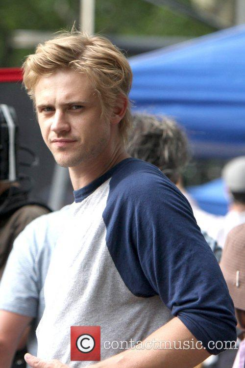 Boyd Holbrook on the set of their new...