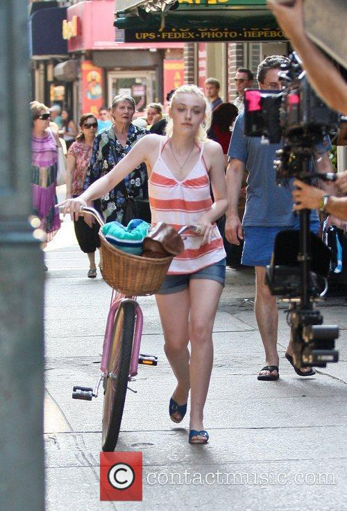On the set of her new movie 'Very...